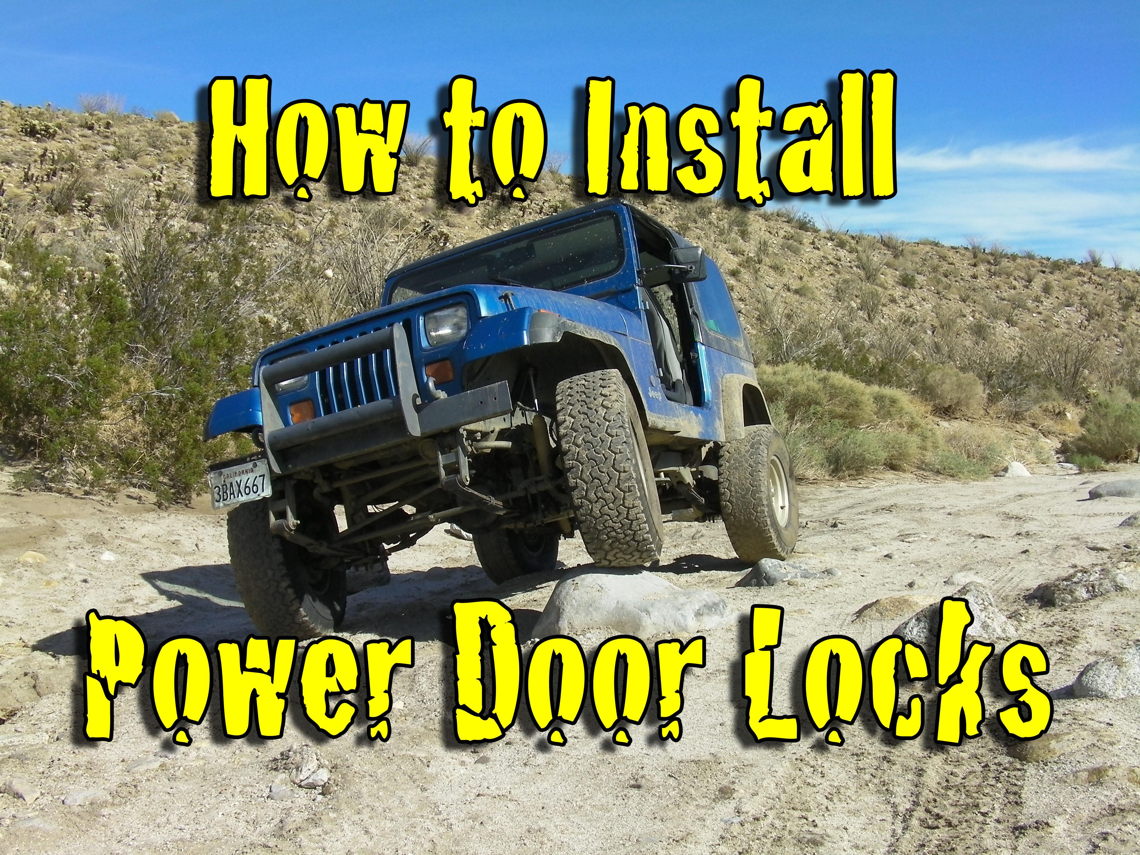 how to install power door locks featured