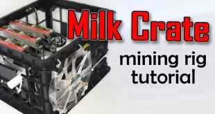 Milk Crate Mining Rig